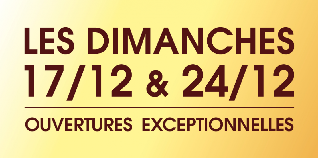 DIMANCHES 17/12 & 24/12